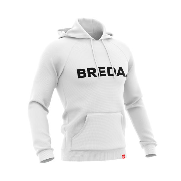 Hoodie Breda white